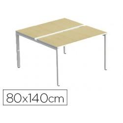 Bench paperflow 4 personnes plateau 80x140cm pieds acier...
