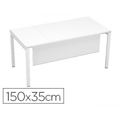 Table voile de fond paperflow 150x35cm coloris blanc/blanc