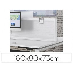 Table de bureau eol conect rectangulaire 160x80cm décor...