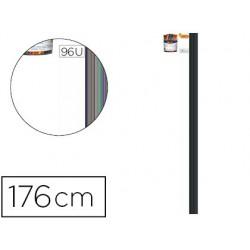 Porte-manteaux alba stan 8 patères ajustables acier epoxy...
