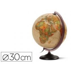Globe antique jpc géographique en relief diamètre 30cm...