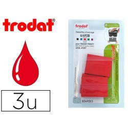 Recharge tampon trodat 4928/4958/4928t rouge blister 3...