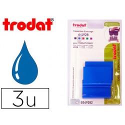 Recharge tampon trodat 4928/4958/4928t bleu blister 3 unités
