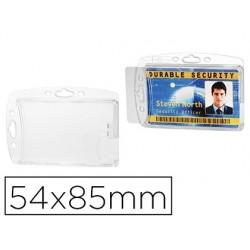 Porte-badge durable sans attache fermé pour 2 cartes 54x85mm