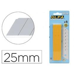 Lame rechange olfa cutter 25mm acier inoxydable boîte 25...