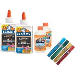 Kit starter elmers fabrication slime coloré 2 flacons de...