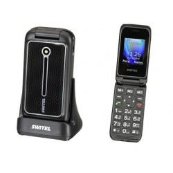 Téléphone mobile switel clapet senior touche sos socle...