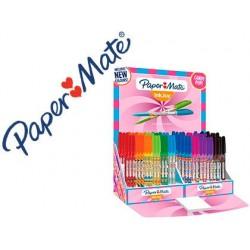 Présentoir de 150 billes papermate inkjoy 100 candy pop