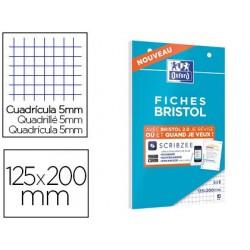 Cahier de fiches bristol 2.0 oxford 125x20cm 5x5mm 30 unités