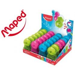 Présentoir de 24 taille-crayons gomme maped loopy...