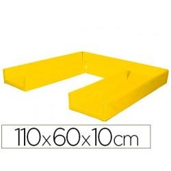 Matelas sumo didactic pliable 110x60x10cm jaune