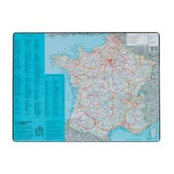 Sous-main esselte géographique carte france pvc mousse...