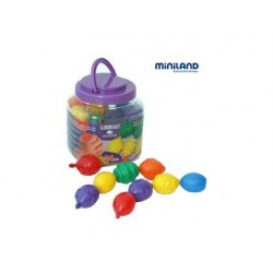 Jeu miniland maxichain 24 perles coloris assortis