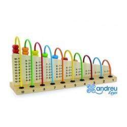 Jeu andreutoys abacus en bois additions et soustractions...