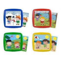 Puzzle miniland les saisons set de 4 unités 12 pièces