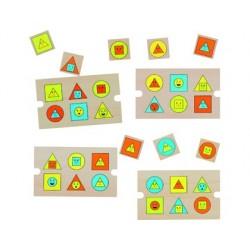 Puzzle andreutoys en bois formes g•éomé•triques 4...