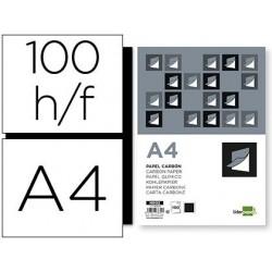 Papier carbone liderpapel film noir format a4 boîte de...
