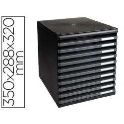 Module exacompta ecoblack 10 tiroirs ouverts a4...