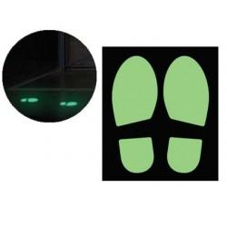 Jeu de 2 empreintes de pas photoluminescents cep pour...