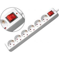 Multiprise mediarange parafoudre 6 prises interrupteur...