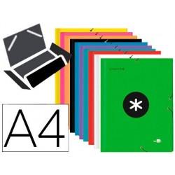 Chemise liderpapel antartik a4 élastique 3 rabats carton...