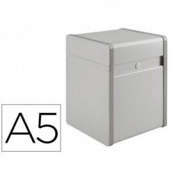Boîte fiches provence metal laqué blanc côtés en plas...