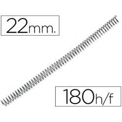 Spirale q-connect métallique relieur pas 5:1 180f calibre...