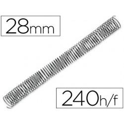 Spirale q-connect métallique relieur pas 4:1 240f calibre...