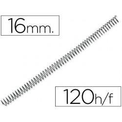 Spirale q-connect métallique relieur pas 4:1 120f calibre...