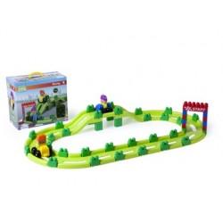 Jeu miniland super blocks racing 62 piè'ces
