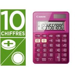 Calculatrice canon poche ls-100k 10 chiffres couleur rose