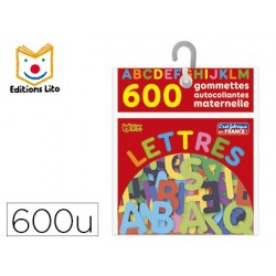 Gommette autocollante éditions lito maternelle lettres...