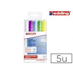 Marqueur edding spécial verre e90 pour supports foncés...