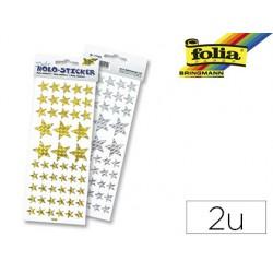 Sticker folia holographique forme étoile paquet 2 unités
