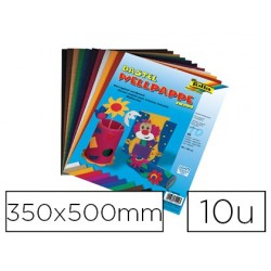 Carton ondulé folia 350x500mm coloris assortis paquet de...