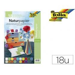 Papier naturel folia 23x33cm matériel coloris assortis...