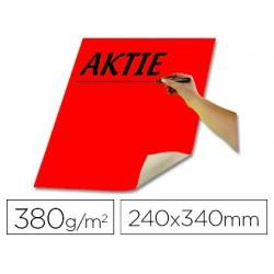 Papier carton folia affiche 380g 240x340mm coloris rouge...