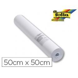 Papier à dessin folia 80g/m2 rouleau 50cmx50m coloris blanc