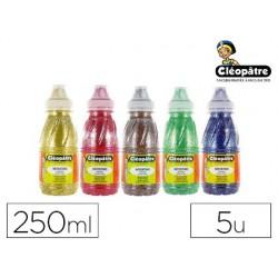 Peinture à l'eau pailletée cléopâtre coloris assortis lot...