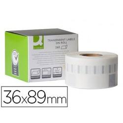 Étiquette adhésive q-connect 36x89mm compatible dymo...
