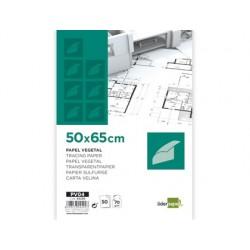 Papier calque liderpapel 50x65cm 70g/m2 vegetal