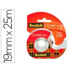 Dévidoir scotch crystal transparent rechargeable + 1...