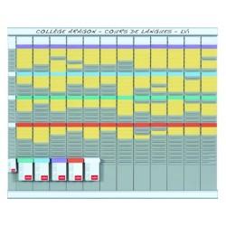 Kit planning nobo annuel 12 colonnes 12 bandes 32 fentes...