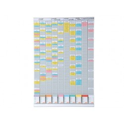 Kit planning nobo hebdomadaire polyvalent 10 colonnes 54...