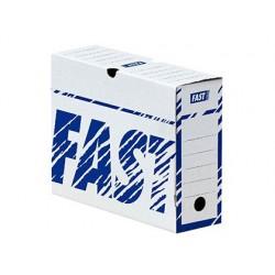 Boîte archives hamelin carton ondulé blanc document...