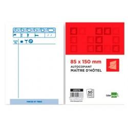 Bloc maître hôtel liderpapel papier autocopiant 85x150mm...