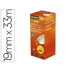 Ruban adhésif scotch crystal 600 19mmx33m pack économique...
