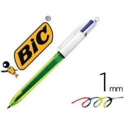 Stylo-bille bic 4 couleurs grip pro pointe moyenne encre...
