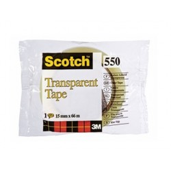 Ruban adhésif scotch transparent résistant 15mmx66m sachet
