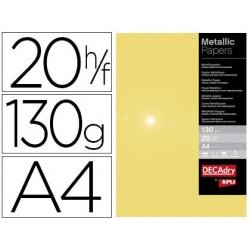 Papier métallique apli doré a4 210x297mm 130g pack 20f